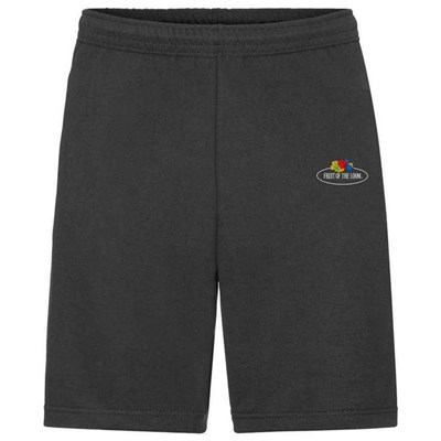 Fruit of the Loom Mens Vintage Small Logo Lightweight Sweat Shorts