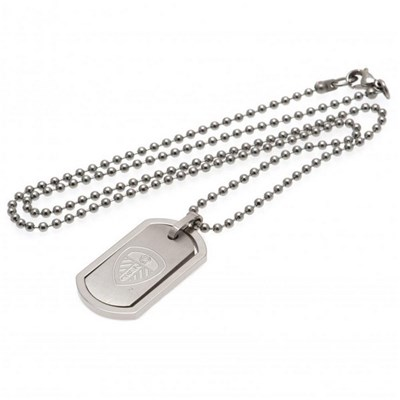 Leeds United FC Framed Dog Tag And Chain