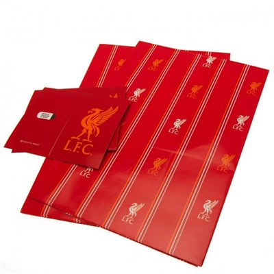 Liverpool FC Pinstripe Wrapping Paper Sheets (Pack of 2)