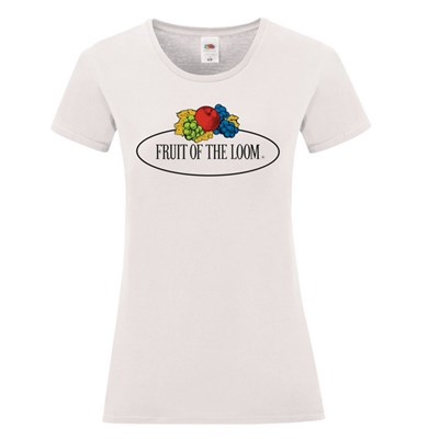 Fruit of the Loom Womens/Ladies Vintage Big Logo Fitted T-Shirt