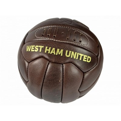 West Ham FC Official Retro Heritage Leather Football