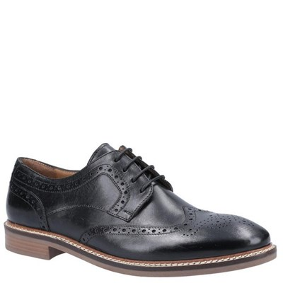 Hush Puppies Mens Bryson Leather Shoes