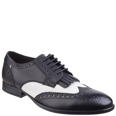 Base London Mens Waxy Leather Brogues
