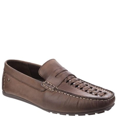 Base London Mens Palmer Waxy Leather Loafers