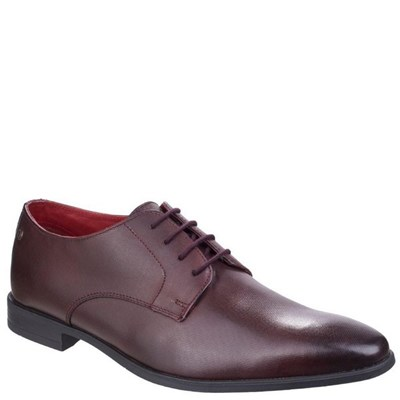 Base London Mens Shilling Waxy Leather Derby Shoes
