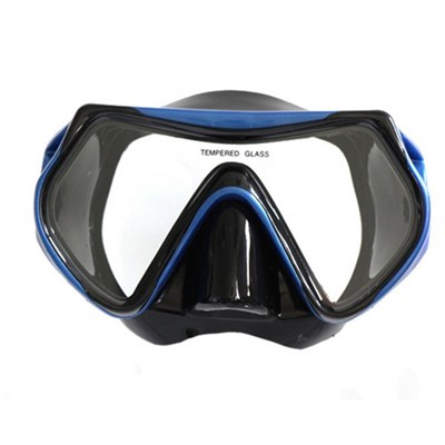 EI Contente Diving Goggles Snorkeling Mask Anti-fog Scuba Swimming Goggles Tempered Glass Lens Swim Mask - For Adults