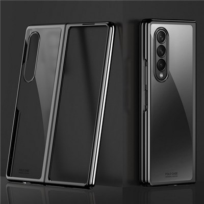EI Contente Clear Hard Phone Case Shockproof Foldable Phone Cover For Samsung Galaxy Z Fold 3