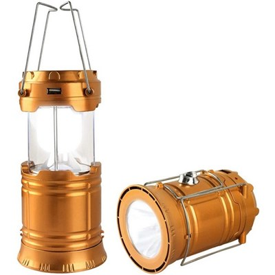 EI Contente Solar Camping Light Foldable LED Flashlight Rechargeable Horse Lantern Outdoor Hiking Lamp