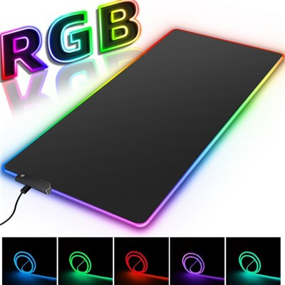 Large Rgb Mouse Pad With Led Light, Large Size Pad With Keyboard, Computer Gaming Mouse Pad