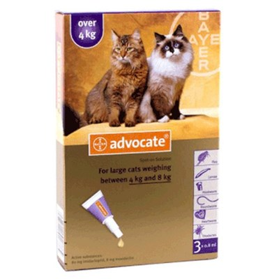 Advocate Large Cat 4-8kg (9-18lbs), 3 Pack
