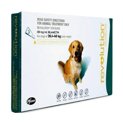 Revolution (Teal) for Dogs 20.1-40kg(40.1-85lbs), 6 Pack
