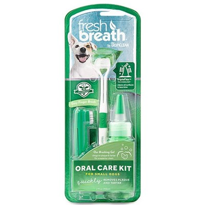 Tropiclean Fresh Breath Oral Care Kit For Medium & Large Dogs