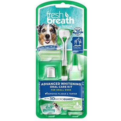 Tropiclean Fresh Breath Advanced Whitening Oral Care Kit For Medium & Large Dogs
