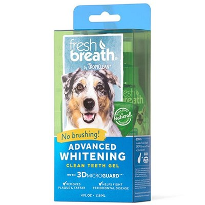 Tropiclean Fresh BreathAdvanced Whitening Gel With 3D Micro Guard For Dogs