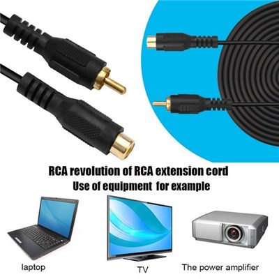 Professional RCA Male To RCA Female M/F Audio Composite Extension Cable