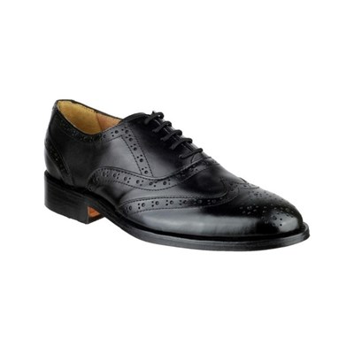 Amblers Womens Ben Leather Soled Oxford Black 10875