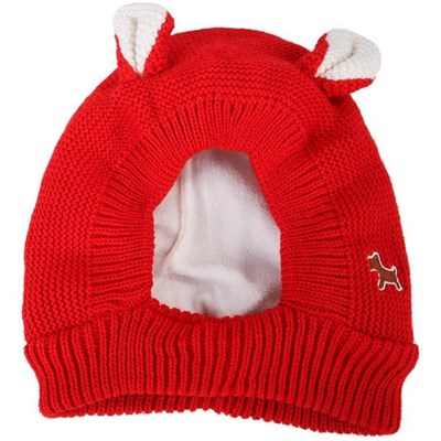 EI Contente Dog Knitted Hat Witer Warm Puppy Cap Bunny Ears Design Ear Muffs Noise Protection