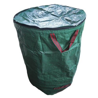 Silktaa Garden Leaf Bag with Flip Cover & Handle, Leaf and Garbage Collection Bag