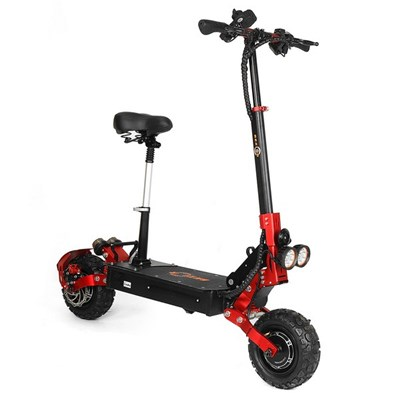 Bezior-S2 Foldable Electric Scooter 48V21Ah Battery 2400W Dual Motor Dual Controller, Speed Up To 65Km/H, 11-Inch Wheels, Can Climb 45