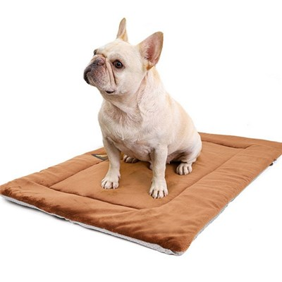 Pet Pillow, Plush Sleeping Mat For Dogs, Heat Insulation For Dogs, Cotton, Brown, Gray, Size Xl (Brown, 110 X 70 X 0.9 Cm)