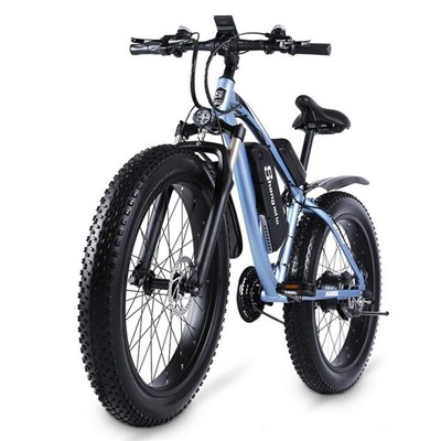 Electric 1000W Mountain Bike 17Ah 48V Lithium Ion City Fat Tire Bicycle Electric Bicycle Beach Cruise Unisex