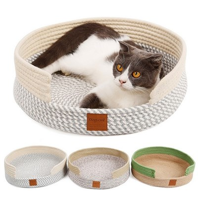 Cat Litter. The Cushion Is Woven With Pure Cotton Thread. The CatS Claw Grinder Keeps The Pet Bed Warm. Flower Gray, Flower Brown, Green Brown. L