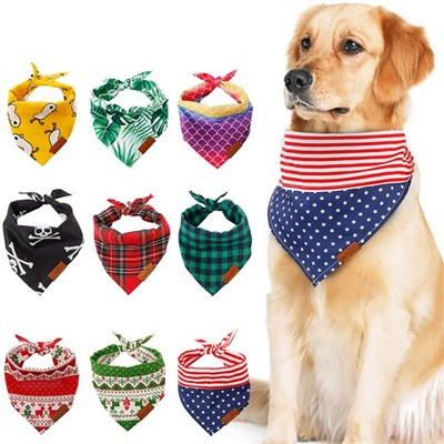 Dog Scarf. Triangular Scarf For Dogs. DogS Saliva Scarf. DogS Handkerchief And Scarf. (L:68 * 48 * 48Cm)