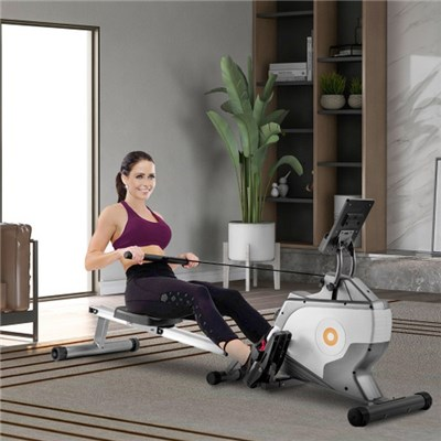 Magnetic Rowing Machine Folding Rowing Machine With Magnetic Clamping System, Led Monitor