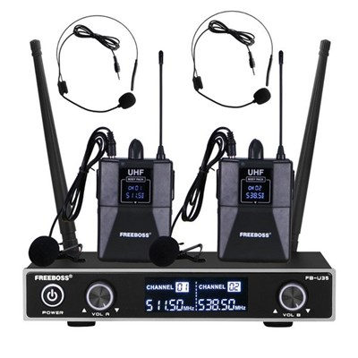 Microphone. Head-Mounted Microphone. Dual Fixed Frequency Wireless Microphone System. Handheld Headset Lapel Karaoke Microphone