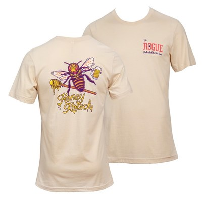 Honey Kolsch Rogue Beer Dedicated To The Bees Front and Back T-Shirt