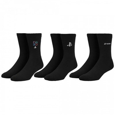 Sony PlayStation Embroidered Crew Socks 3-Pack