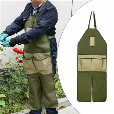 EI Contented Gardening Apron Split Leg Anti Dirty Apron With Multi Tool Pockets For Orchard Garden